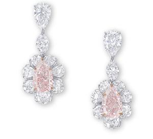 Pink diamond earrings sold at Christie's for $2 million in November 2011