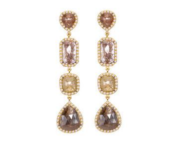 Sutra brown diamond earrings