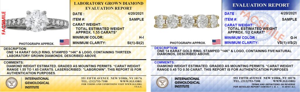 IGI Jewelry Report CC