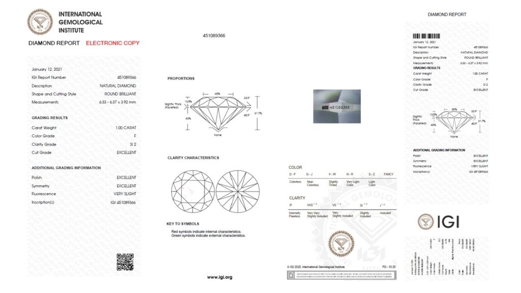 IGI Natural Diamond Report
