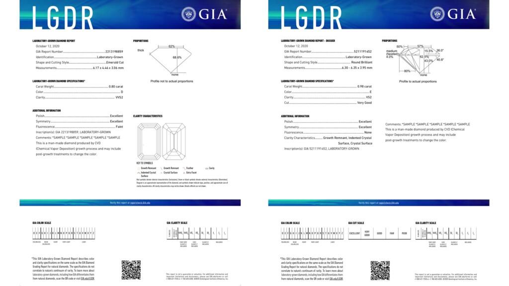 GIA Laboratory Grown Diamond reports