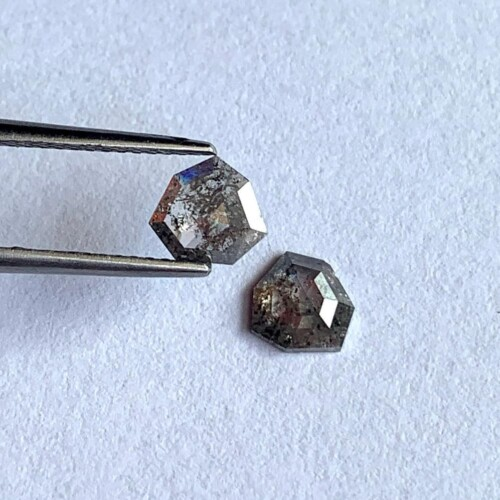 Salt and pepper included diamonds.