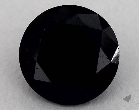 James Allen fully saturated black diamond.