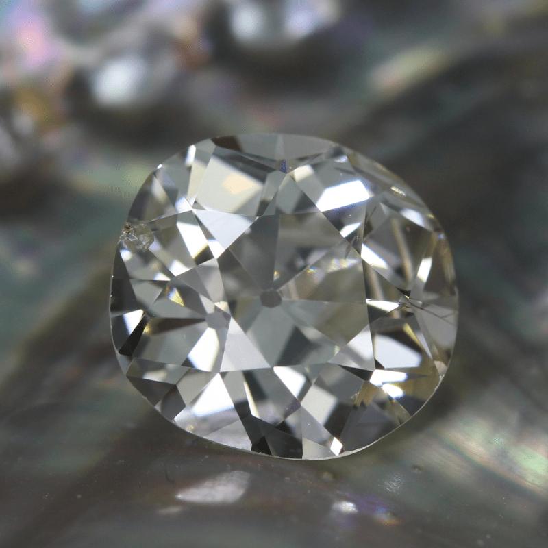 Antique Old Mine Cut Diamond