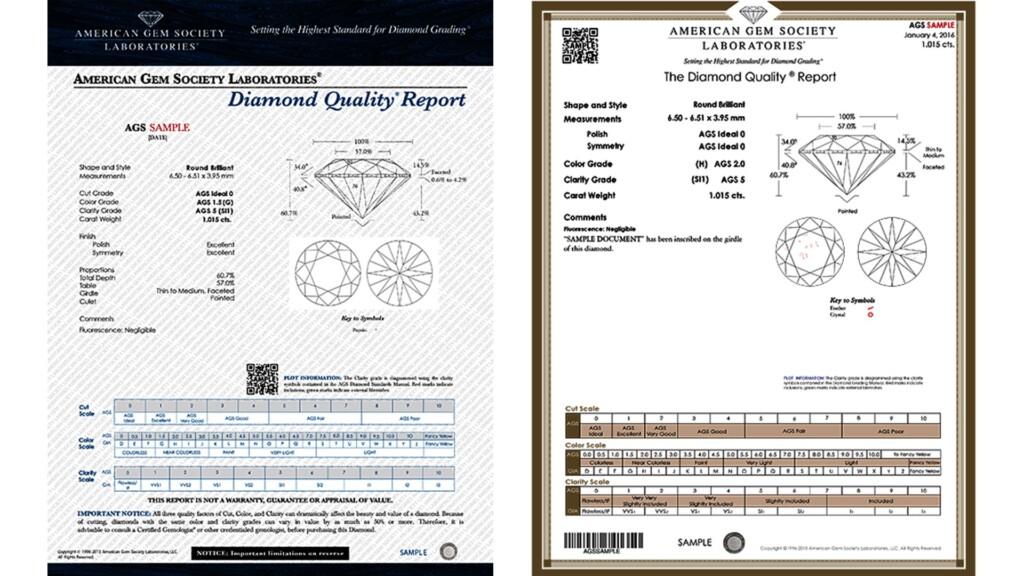 AGS Diamond Quality Report