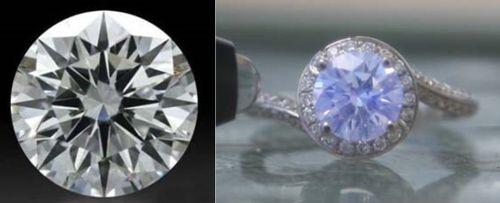 Diamond Fluorescence: Very visible