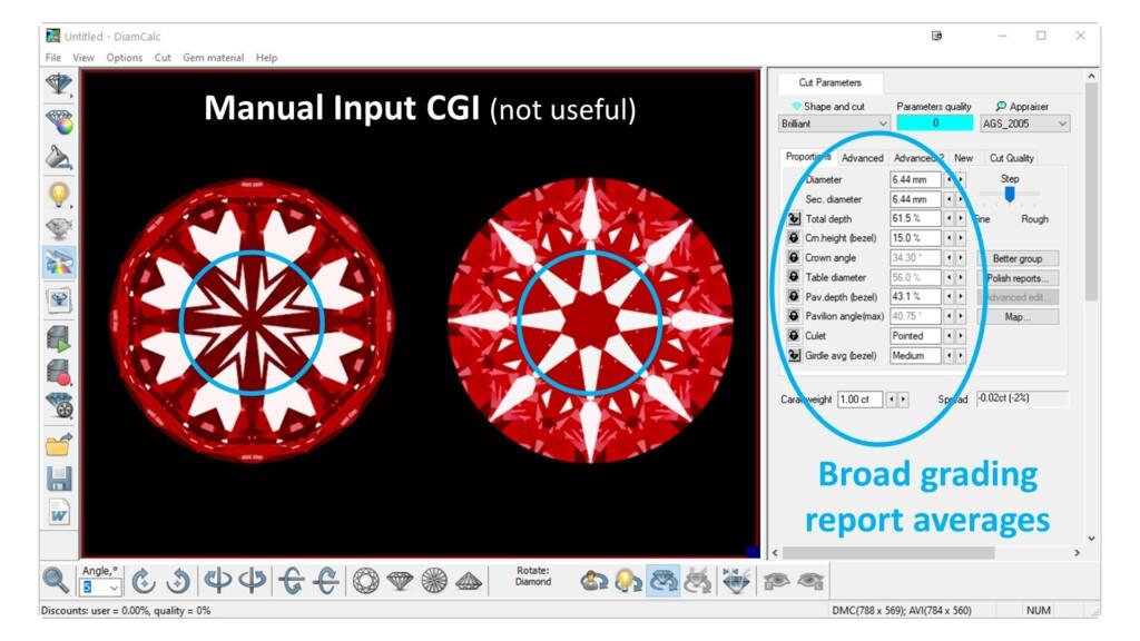 Manual Input CGI of hearts and arrows diamonds