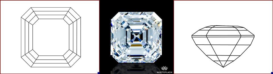 asscher cut diamond photo and image