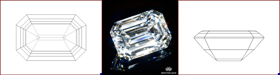 emerald cut photo and image