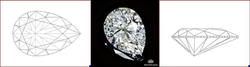 pear diamond photo and image