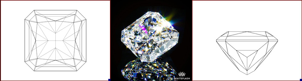 radiant cut diamond photo and image