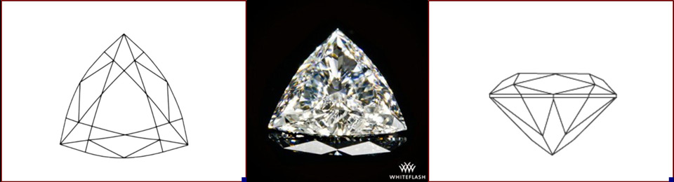 Trillion cut diamond photo and image