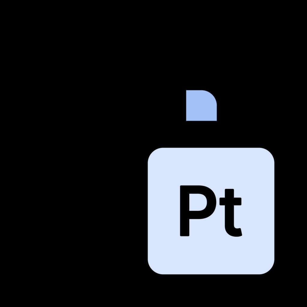 White gold v.s. Platinum icon
