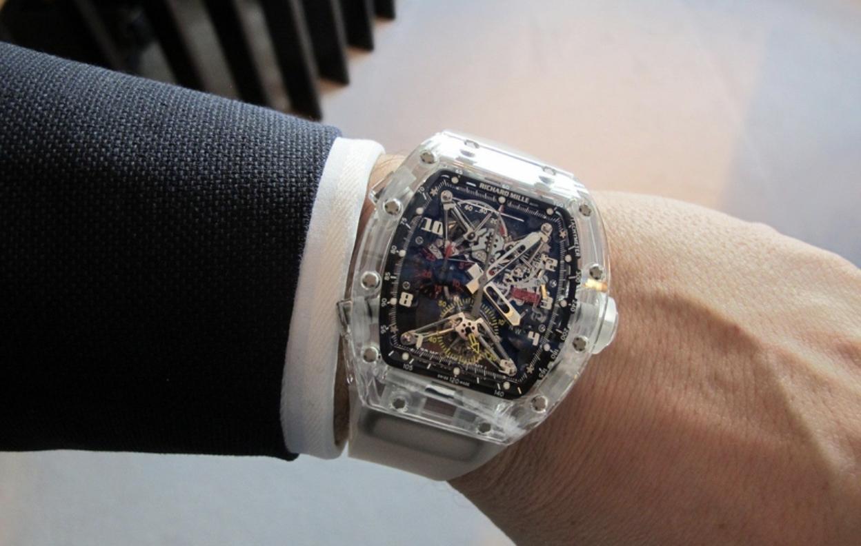Richard Mille Tourbillon RM 56-02 Sapphire watch.